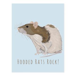 Rat Met een kap de met een kap van Agouti van de Briefkaart