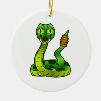 Ratelslang Rond Keramisch Ornament