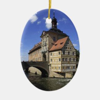 Rathaus van Bamberg, Duitsland Keramisch Ovaal Ornament