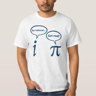 Rationeel ben krijgen Echte Denkbeeldige Wiskunde T Shirt