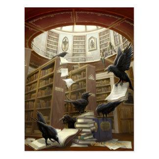 Raven in het Briefkaart van de Bibliotheek