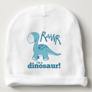 RAWR ik ben een Dinosaurus Leuke Blauwe Diplodocus Baby Mutsje