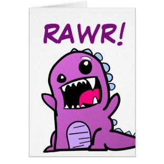 Rawr! Kaart van de Verjaardag van de dinosaurus de