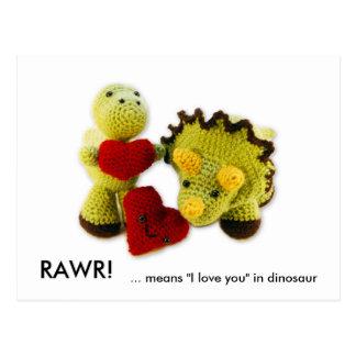 "RAWR! ,… middelen ""I liefde u"" in dinosaurus Briefkaart"