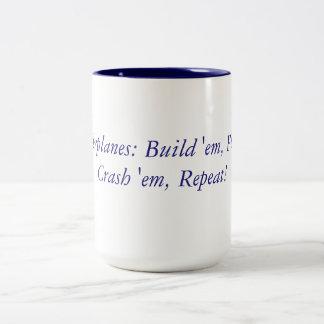 RC Mantra van vliegtuigen Tweekleurige Koffiemok