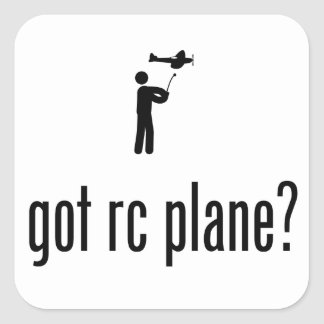 RC vliegtuig Vierkant Stickers