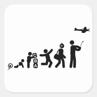 RC vliegtuig Vierkante Sticker