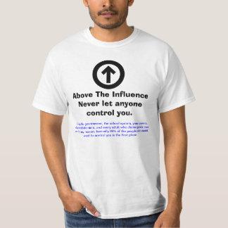 Reactie op boven de Invloed T Shirt