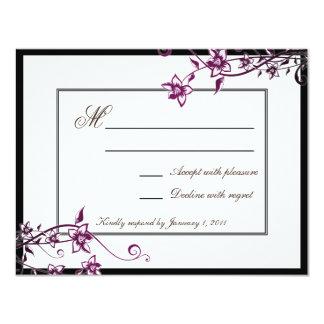 Reactie RSVP van het Huwelijk van de Bloesem van 10,8x13,9 Uitnodiging Kaart