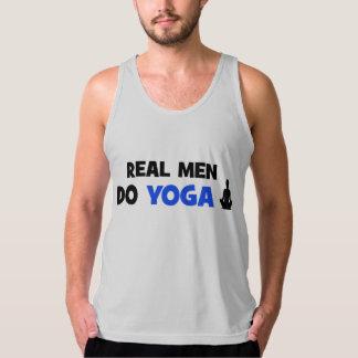 Real Men Do Yoga - het Grappige Man van de Tanktop