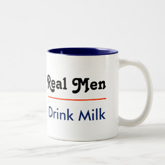 Real Men Drink Milk Tweekleurige Koffiemok