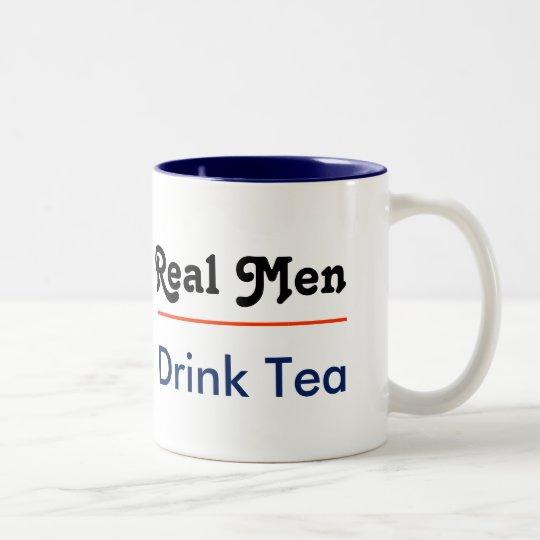 Real Men Drink Tea Tweekleurige Koffiemok