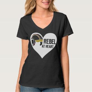 Rebel bij de v-Hals van Hanes van de Vrouwen van T Shirt