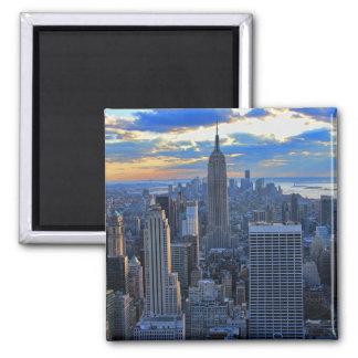 Recente middagNYC Horizon als zonsondergangbenader Magneet
