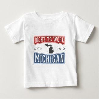 Recht op het Werk Michigan Baby T Shirts