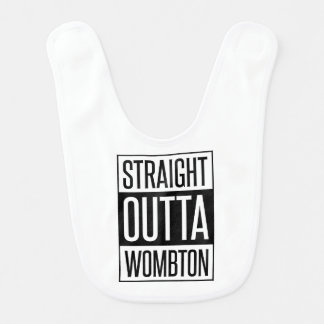 Rechte het Grappige Baby van Outta Wombton Slabbetjes