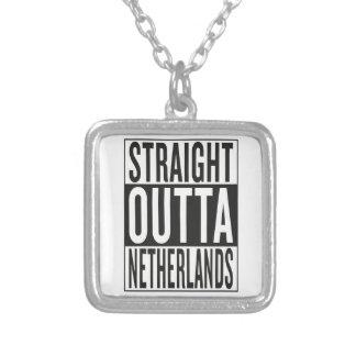 rechte outta Nederland Zilver Vergulden Ketting