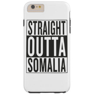 rechte outta Somalië Tough iPhone 6 Plus Hoesje