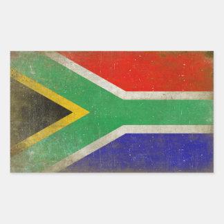 Rechthoekige Sticker met Vlag van Zuid-Afrika