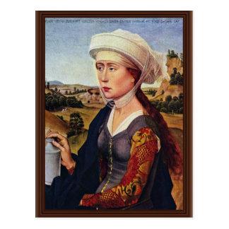 Rechts van Braquealtar: Maria Magdalena Briefkaart