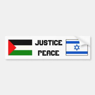 Rechtvaardigheid en Vrede in Israël-Palestina Bumpersticker