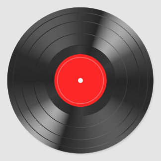 Record_LP Ronde Sticker