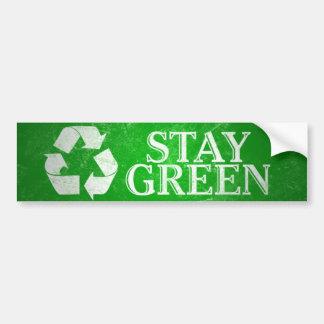 Recyclen, blijf de Groene Sticker van de Bumper