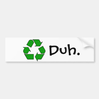 recyclen bumpersticker