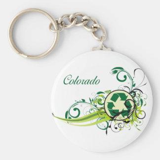 Recyclen Colorado Basic Ronde Button Sleutelhanger