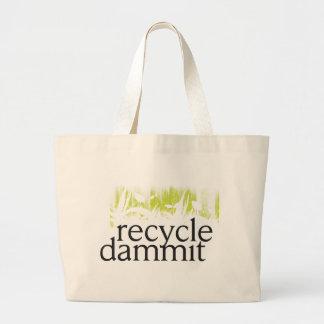 recyclen dammit grote draagtas