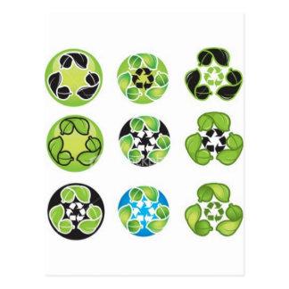 recyclen ga groen briefkaart