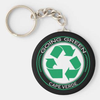 Recyclen Kaapverdië Basic Ronde Button Sleutelhanger