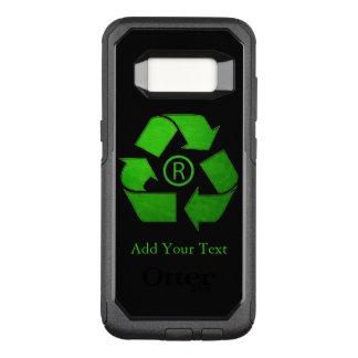 Recyclen Logo door Shirley Taylor OtterBox Commuter Samsung Galaxy S8 Hoesje