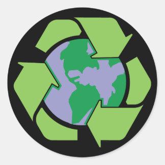 Recyclene Aarde Ronde Sticker