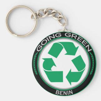 Recyclene Benin Basic Ronde Button Sleutelhanger