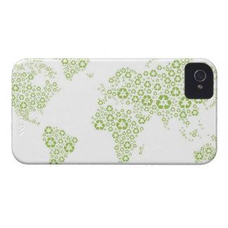 Recyclene die symbolen worden gebruikt om de iPhone 4 hoesje