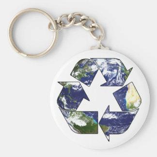 Recyclene nu Keychain Basic Ronde Button Sleutelhanger