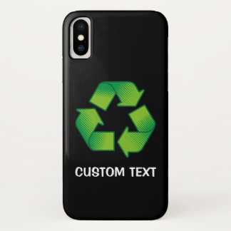 Recyclerend Symbool iPhone X Hoesje
