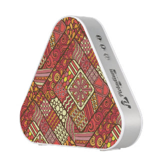 Red abstract tribal aztec pattern