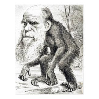 Redactie Cartoon van Charles Darwin 1871 Briefkaart