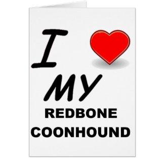 redbone coonhound liefde wenskaart