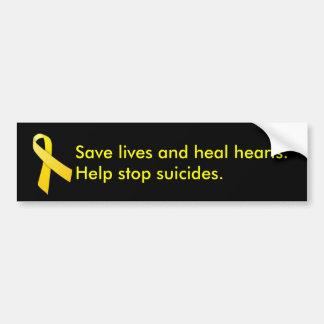 Redden van mensenlevens en het Helen Harten Bumpersticker