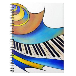 Redemessia - spiraalvormige piano notitieboek