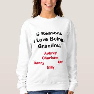 """""""Redenen I Liefde die een Oma!"""" is Sweatshirt"""