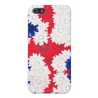 Redwhite, blauwe bloemen iPhone 5 case