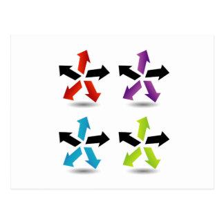 Reeks kleurrijke pijlen briefkaart