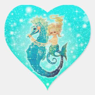 Reeks van de Sticker van Seahorse van de meermin