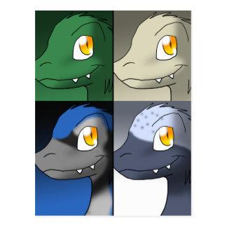 Referenties 1 van de Dinosaurussen van Briefkaart