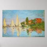 Regatta in Argenteuil door Claude Monet Posters