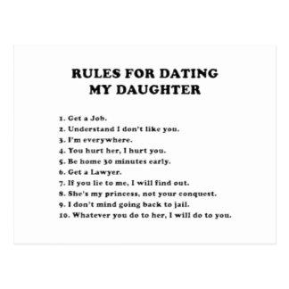 Regels om mijn dochter te dateren briefkaart